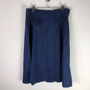 NEW Lane Bryant Navy Blue A Line Midi Skirt